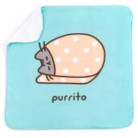"Pusheen Purrito Graphic Blue Blanket for Cat, 24"" L X 24"" W"