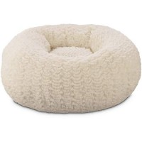 "You & Me Cream Pouf Cat Bed, 18"" L X 18"" W"