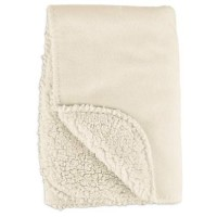 "Harmony Cozy Sherpa Pet Throw in Cream, 24"" x 24"""
