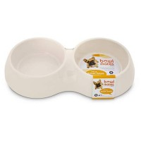 Bowlmates White Double Round Base, 1.75 Cup