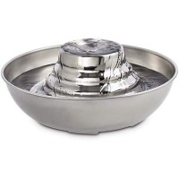 Harmony Tiered Stainless Steel Deluxe Pet Fountain, 96 oz.