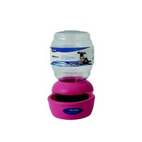 Petmate Replendish Gravity Waterer Pink Dog Bowl, 1 gallon