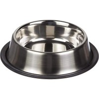 Harmony Brushed Stainless Steel No-Tip Cat Bowl, 1 c.