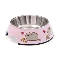 Pusheen Pizza Stainless Steel Cat Bowl, 1 Cup