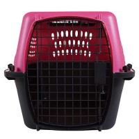 "Petmate 2-Door Top Load Kennel, Berry, 24"" L X 17"" W X 15"" H"