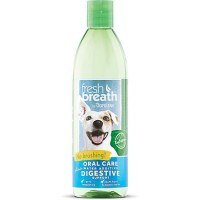 TropiClean Fresh Breath Plus Digestive Support Oral Care Water Additive for Pets, 16 fl. oz.