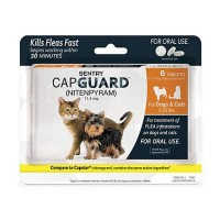 Sentry CapGuard Flea Tablets for Cats & Dogs 2 to 25 lbs., 6 count