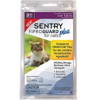 Sentry FIPROGUARD PLUS for Cats & Kittens Over 1.5 lbs. Topical Flea & Tick Treatment, 3 Month Supply