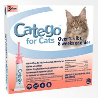 Catego Flea and Tick Control for Cats over 1.5 Lbs., 3 Counts.