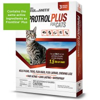 Doctors Foster + Smith Fiprotrol Topical Flea & Tick Control For Cats over 1.5 lbs, 3 pack