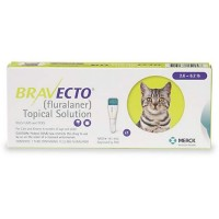 Bravecto Topical Solution for Cats - Yellow, For Cats 2.6 to 6.2 lbs.