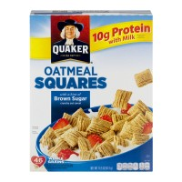 Quaker Oatmeal Squares Cereal with Hint of Brown Sugar