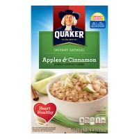 Quaker Instant Apples & Cinnamon Oatmeal - 10 ct