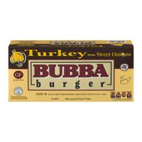 Bubba Burger Turkey with Real Sweet Onions Gluten Free No MSG - 8 ct