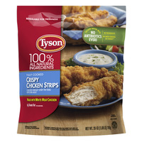 Tyson Breaded Chicken Strips Crispy All Natural Fully Cooked Frozen
