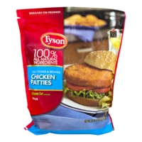 Tyson Breaded Chicken Breast Patties Fully Cooked All Natural Frozen