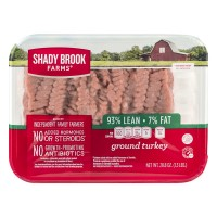 Shady Brook Farms Ground Turkey 93% Fat Free 7% Fat Fresh