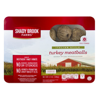 Shady Brook Farms Turkey Meatballs Italian Style Fully Cooked Fresh
