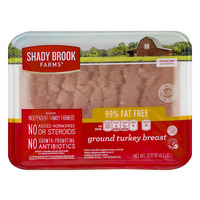 Shady Brook Farms Ground Turkey Breast 99% Fat Free All Natural Fresh