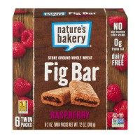 Nature's Bakery Fig Bar Whole Wheat Raspberry 100% Natural - 6 ct