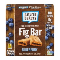 Nature's Bakery Fig Bar Whole Wheat Blueberry 100% Natural - 6 ct
