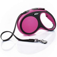 Flexi Comfort Retractable Dog Leash in Pink, Medium 16'