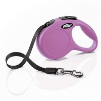 Flexi Classic Retractable Dog Leash in Pink, Extra Small 10'