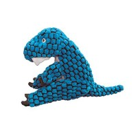 KONG Dynos TRex Blue Dog Toy, Large