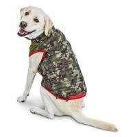 Reddy Camo Zip-and-Stow Dog Puffer Jacket, Small