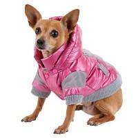 Pet Life Pink Vintage Aspen Dog Ski Jacket, Medium