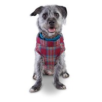 Heritage Pets Paws in Plaid Dog Coat, X-Small