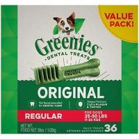 Greenies Original Regular Dental Dog Treats, 36 oz., Count of 36
