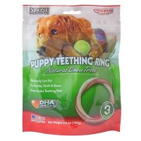 N-Bone Puppy Teething Ring 3-Pack Chicken Chew Treats, 3.6 oz.