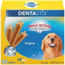 Pedigree Dentastix Original Large Treats For Dogs, 32 Treats, 1.72 lbs.