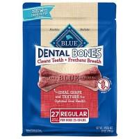 Blue Buffalo Blue Dental Bones Regular Size Dog Treats, 27 oz.