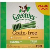 Greenies Grain Free Teenie Dental Dog Treats, 36 oz., Count of 130