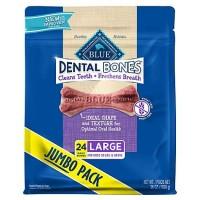 Blue Buffalo Blue Dental Bones Large Size Dog Chews, 36 oz.