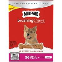 Milk-Bone Brushing Chews Dog Treats, Mini, 22 oz.