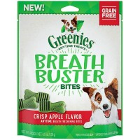 GREENIES BREATH BUSTER Bites Crisp Apple Flavor Treats for Dogs, 5.5 oz.