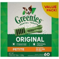 Greenies Original Petite Dental Dog Treats, 36 oz., Count of 60