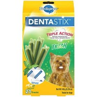 PEDIGREE DENTASTIX Fresh Toy/Small Dog Treats Treats, 21 count