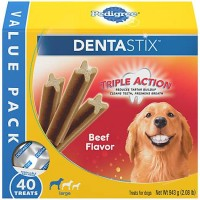 Pedigree Dentastix Beef Flavor Value Pack Large Treats For Dogs, 2.08 lbs., 40 CT.