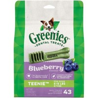 Greenies Blueberry Flavor Teenie Dog Dental Chews, 12 oz., Count of 43