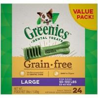 Greenies Grain Free Large Dental Dog Treats, 36 oz., Count of 24