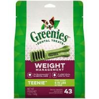 Greenies Weight Management Teenie Dental Dog Chews, 12 oz., Count of 43