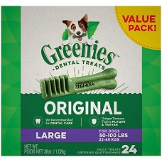 Greenies Original Large Dental Dog Treats, 36 oz., Count of 24