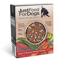JustFoodForDogs Pantry Fresh Beef and Russet Potato Dog Food, 12.5 oz., Case of 12