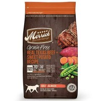 Merrick Grain Free Real Texas Beef + Sweet Potato Dry Dog Food, 25 lbs.
