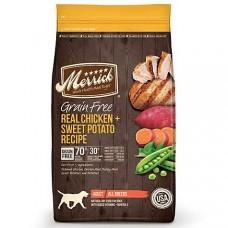 Merrick Grain Free Real Chicken + Sweet Potato Dry Dog Food, 25 lbs.