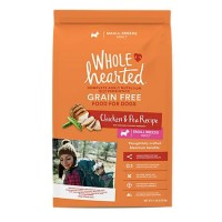 WholeHearted Grain Free Small Breed Adult Chicken and Pea Recipe Dry Dog Food, 14 lbs.